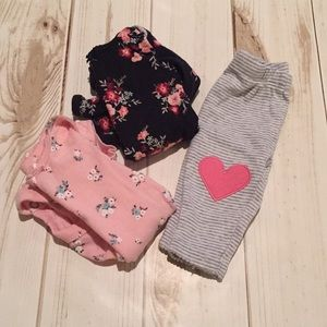 Newborn Onesies and Heart Leggings
